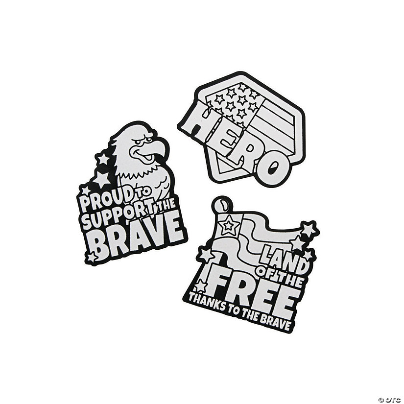 Color Your Own Military Service Fuzzy Magnets Image Thumbnail
