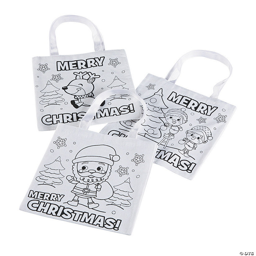 Color Your Own Mini Christmas Tote Bags Audio Thumbnail