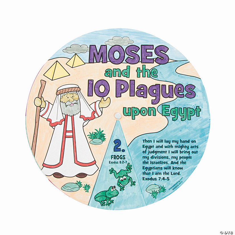 Color Your Own Moses & the 10 Plagues Wheels