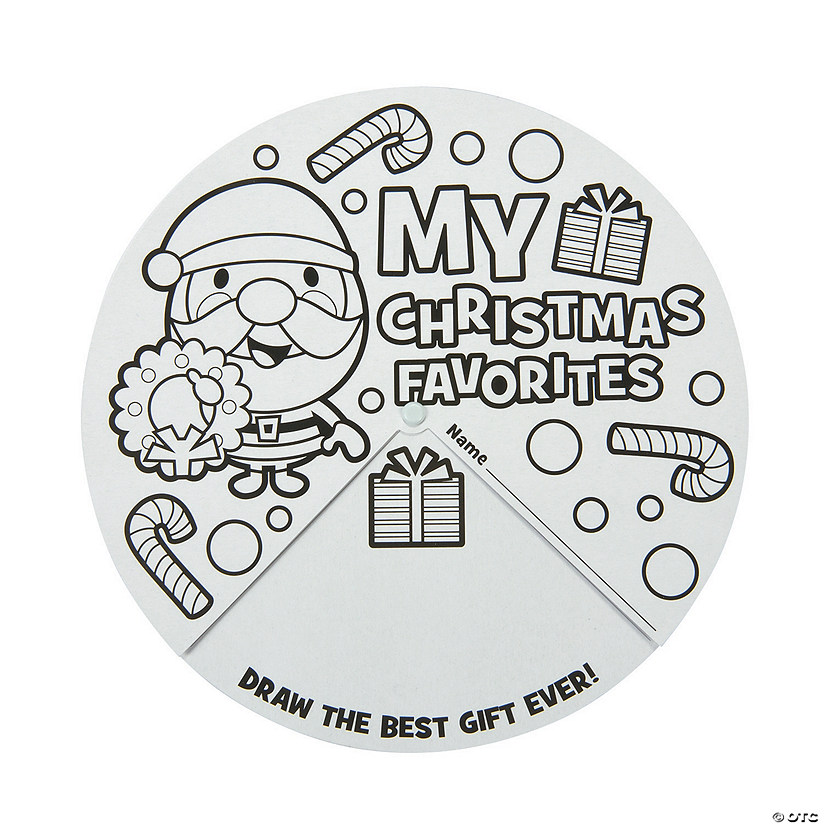 Color Your Own My Christmas Favorites Wheels