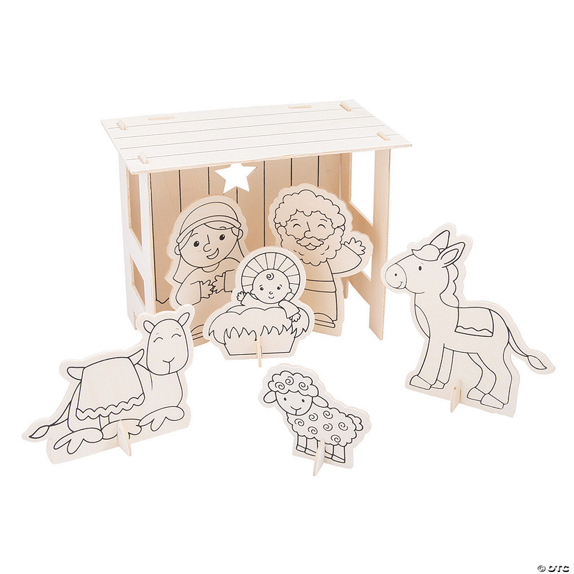Color Your Own Nativity Stable Sets Image Thumbnail