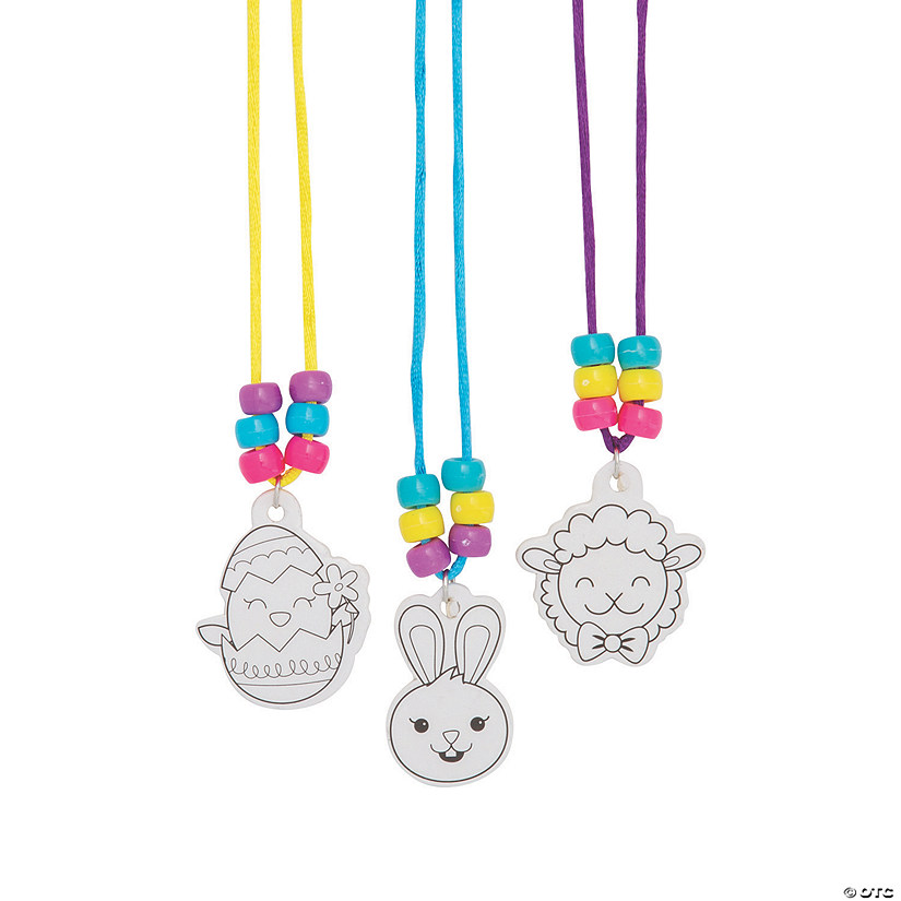 Color Your Own Necklace Easter Egg Fillers Image Thumbnail
