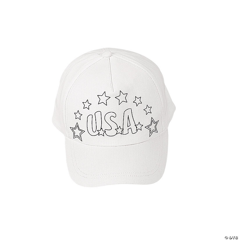 Color Your Own Patriotic Baseball Caps Audio Thumbnail