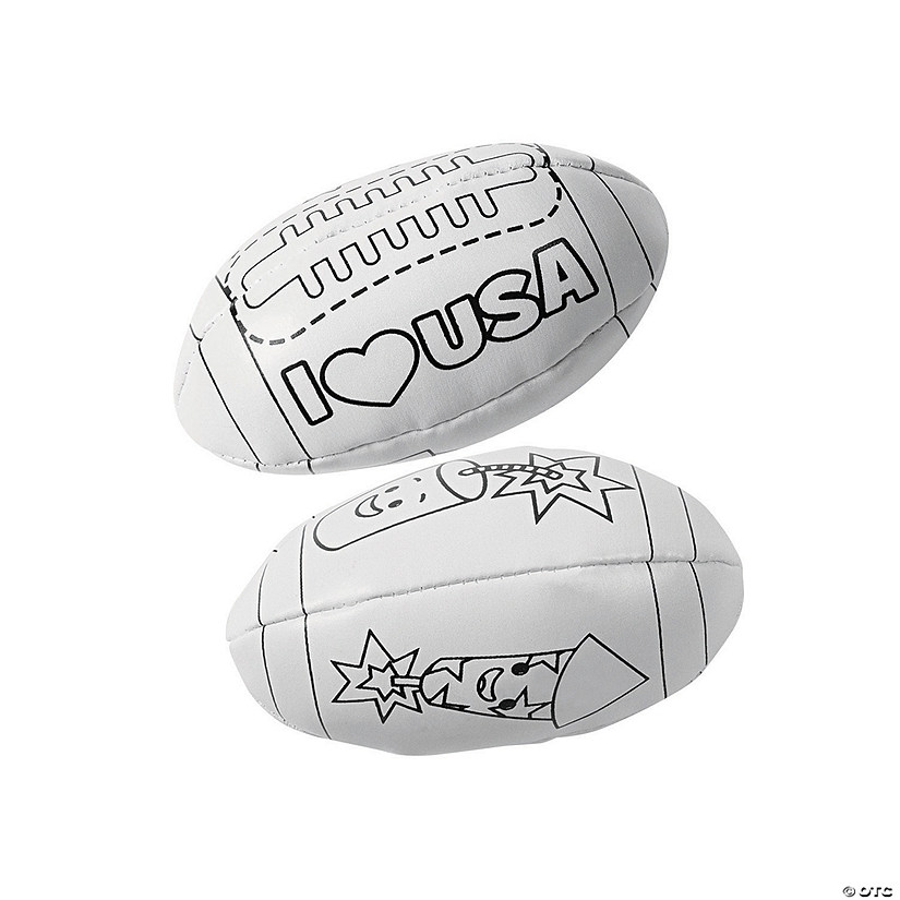 Color Your Own Patriotic Footballs Audio Thumbnail