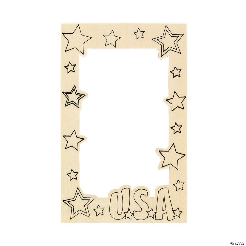 Color Your Own Patriotic Picture Frame Magnets Audio Thumbnail