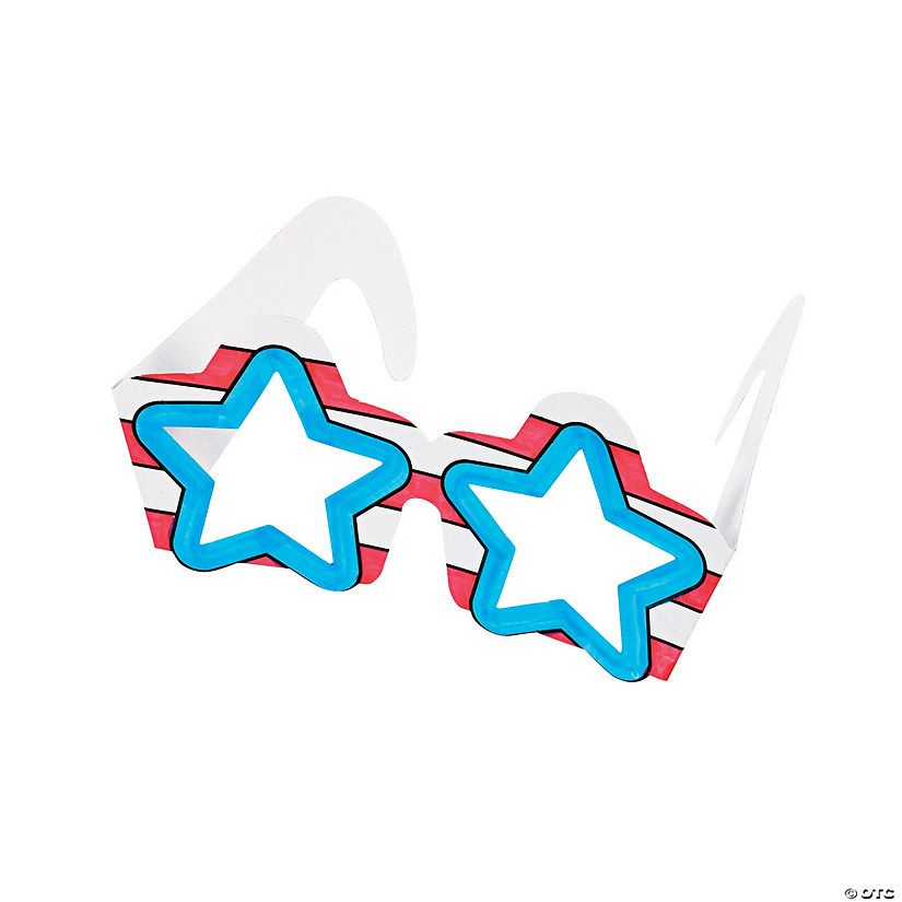 Color Your Own Patriotic Star Glasses