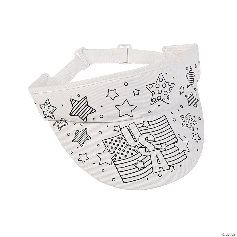 Color Your Own Patriotic Visors - 12 Pc. Image Thumbnail