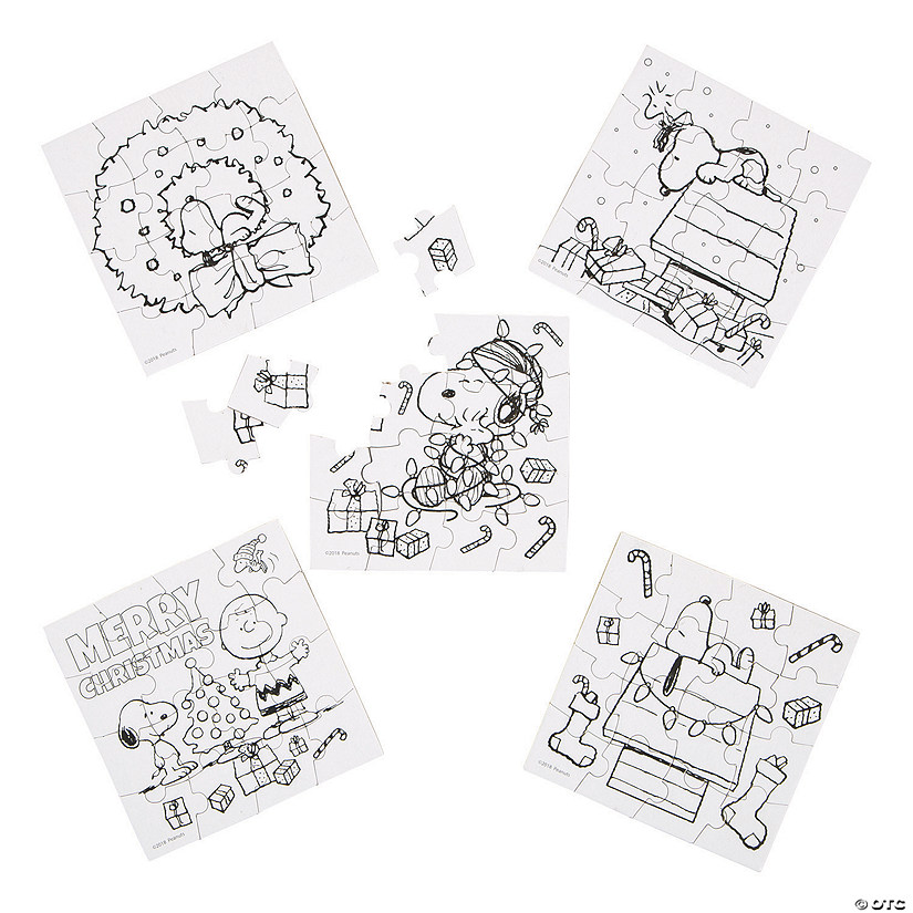 Color Your Own Peanuts<sup>&#174;</sup> Christmas Puzzles Audio Thumbnail