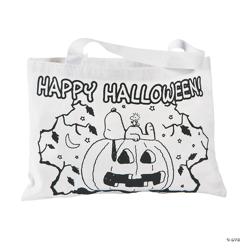 Color Your Own Peanuts<sup>&#174;</sup> Halloween Medium Tote Bags Audio Thumbnail