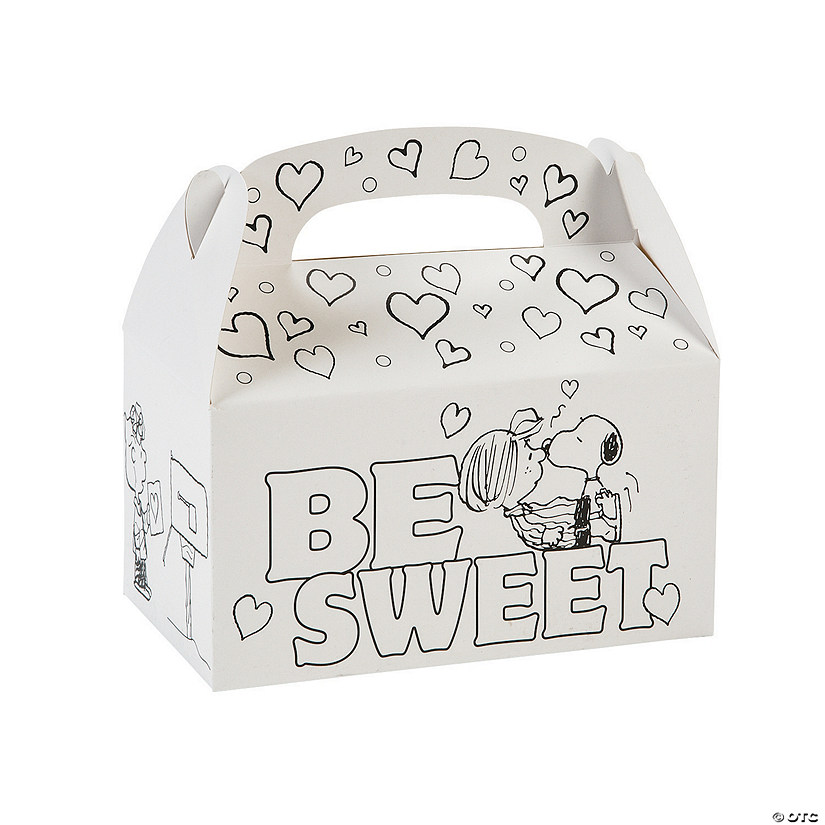 Color Your Own Peanuts® Valentine Treat Boxes