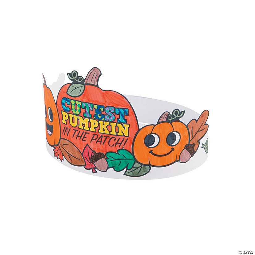 Color Your Own Pumpkin Patch Crowns Image Thumbnail