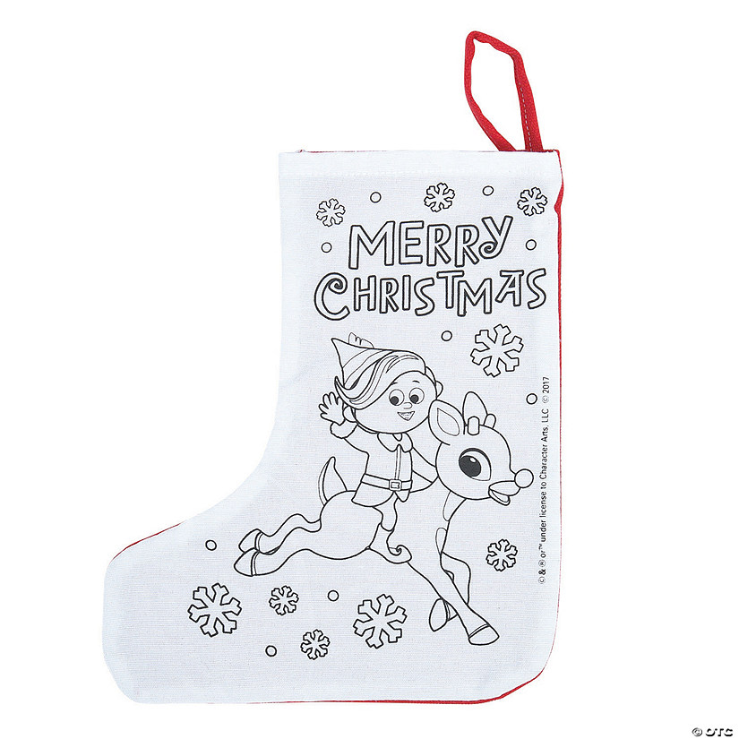 Color Your Own Rudolph the Red-Nosed Reindeer<sup>&#174;</sup> Christmas Stockings Image Thumbnail
