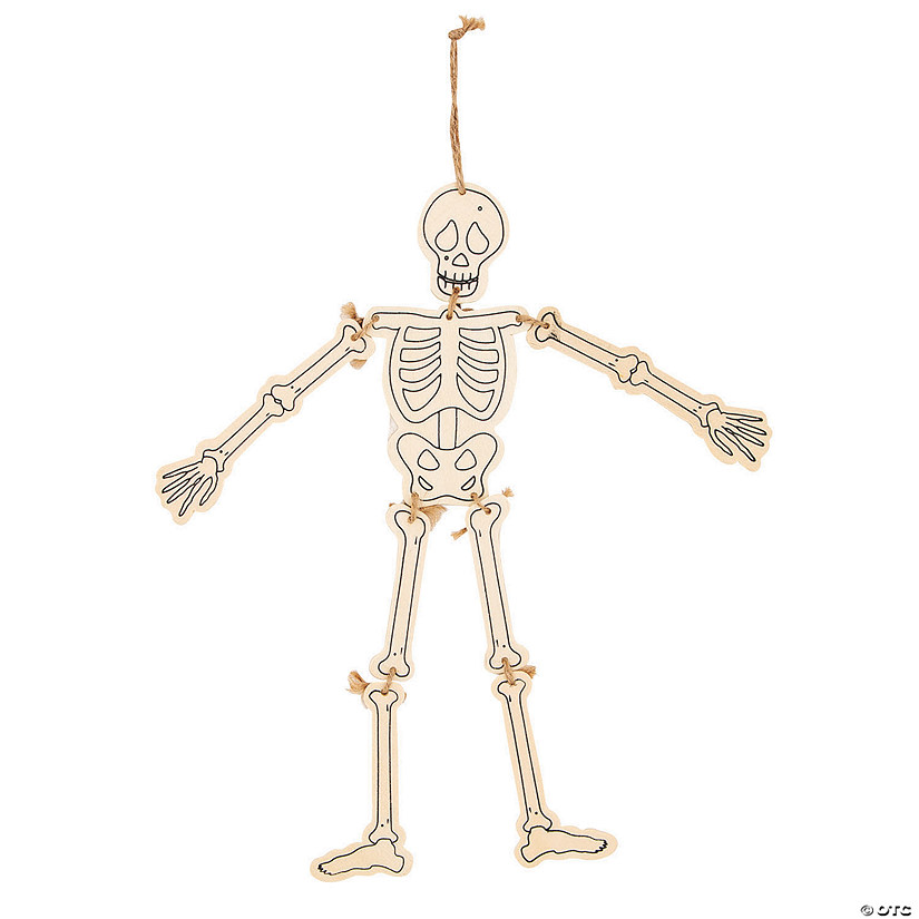 Color Your Own Skeleton Hanging Decorations Image Thumbnail