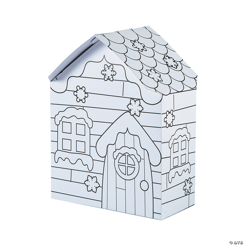 Color Your Own Snowman Houses