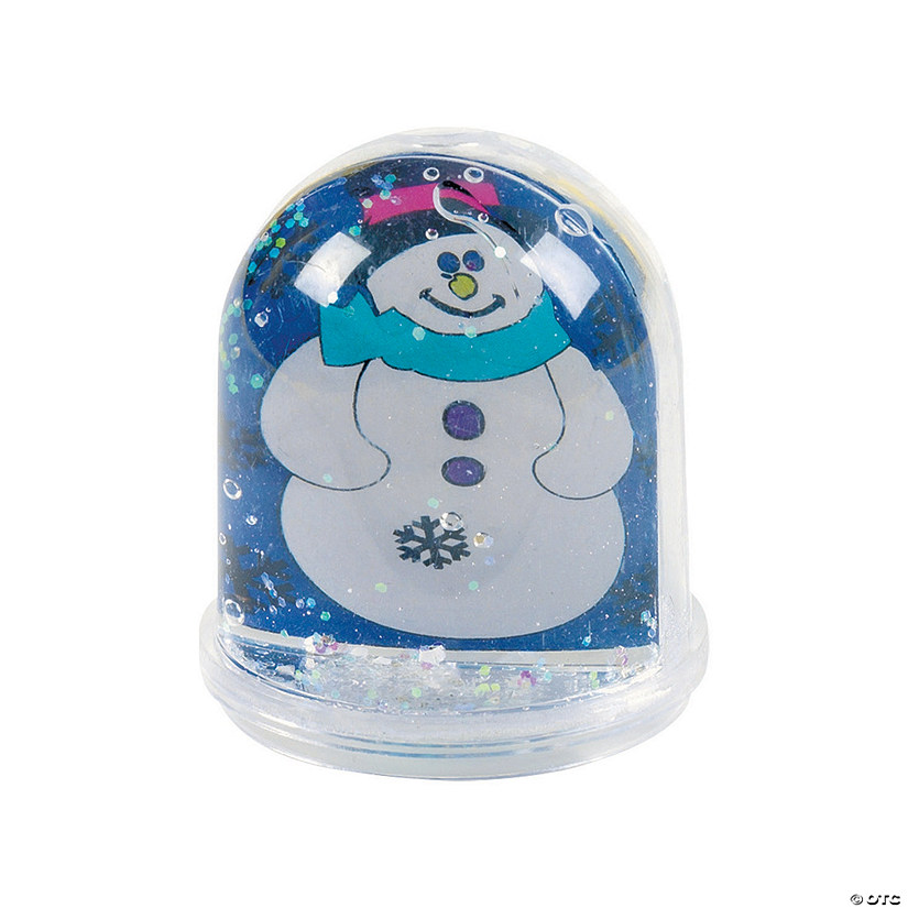 Color Your Own Snowman Snow Globes Image Thumbnail