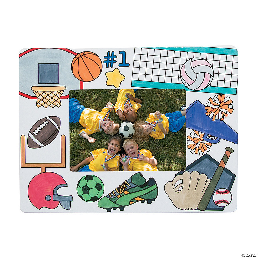 Color Your Own Sports Picture Frames