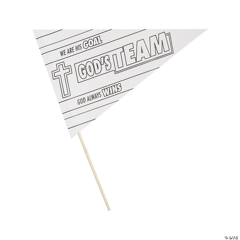 Color Your Own Sports VBS Pennant Flags