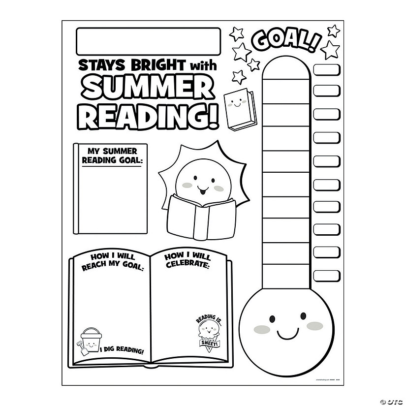 "Color Your Own ""Summer Reading Countdown"" Posters"
