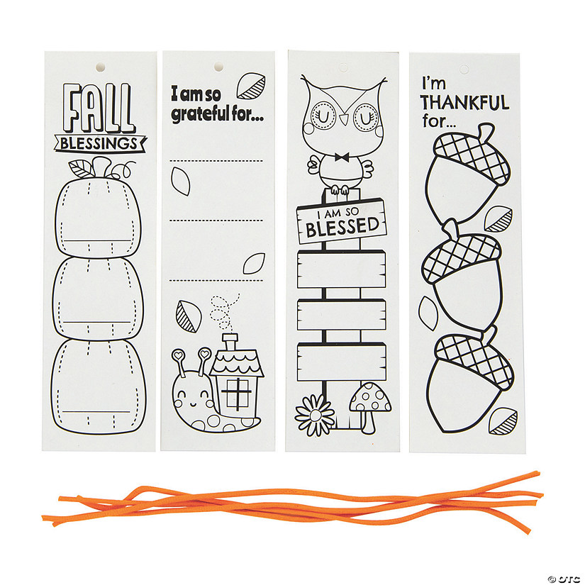 Color Your Own Thankful Bookmarks Image Thumbnail