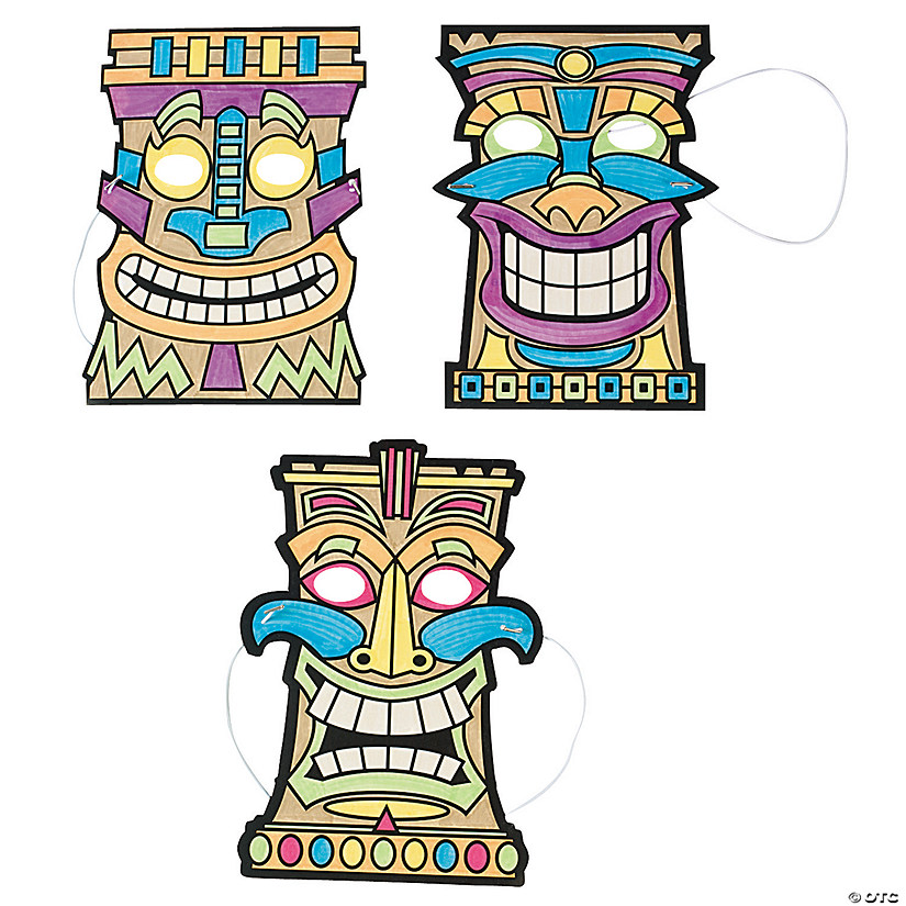 Color Your Own Tiki Masks Audio Thumbnail