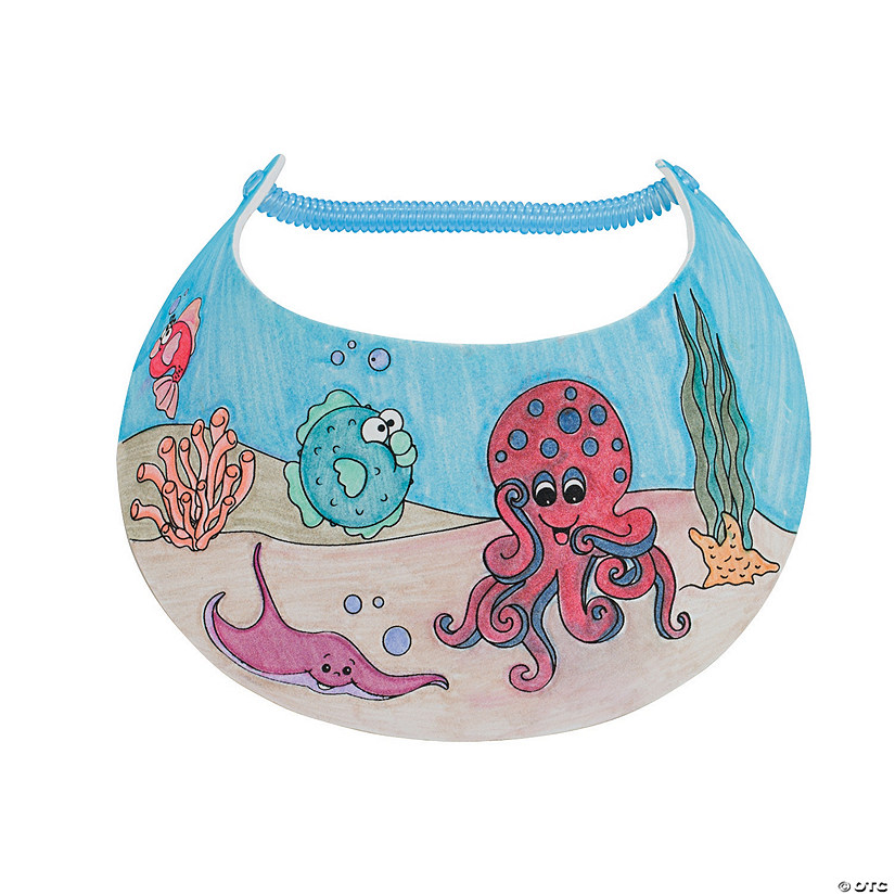 Color Your Own Under the Sea Visors Image Thumbnail