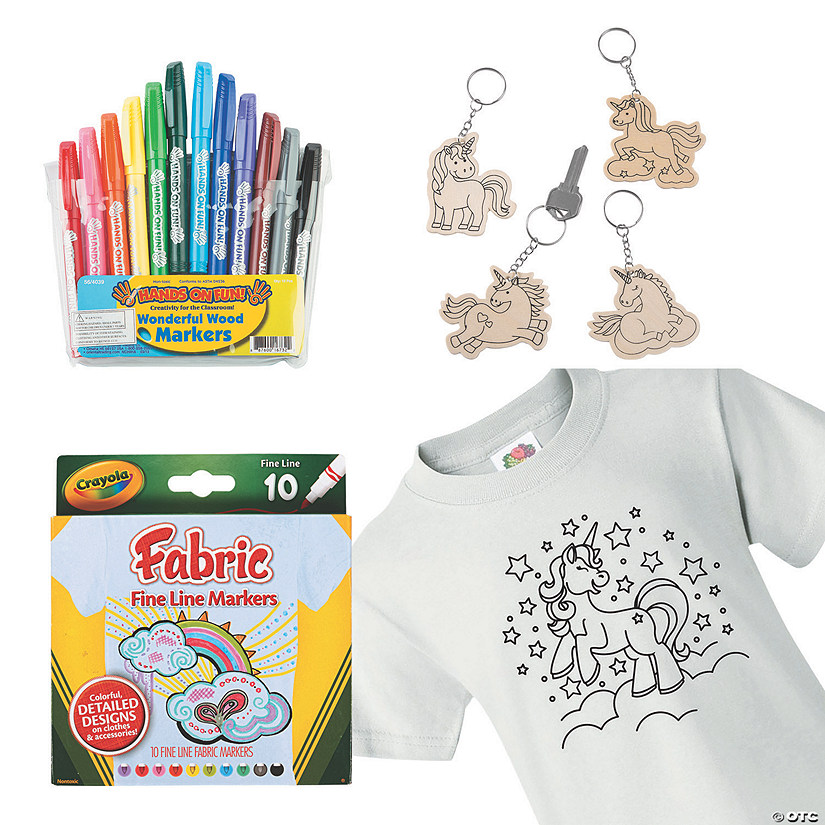 Color Your Own Unicorn Boredom Buster Kit Image Thumbnail