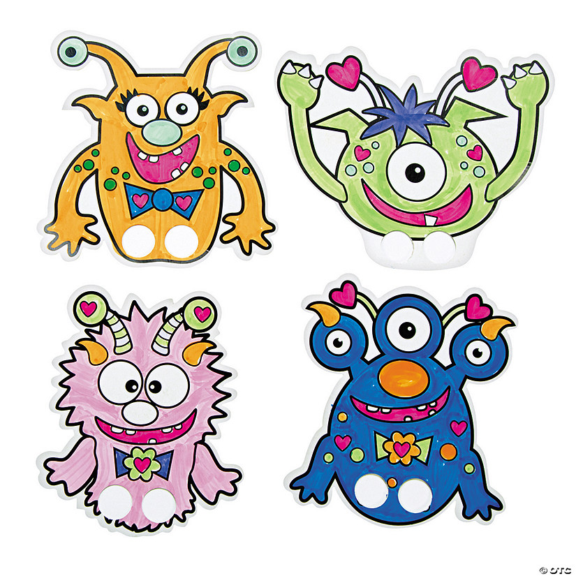 Color Your Own Valentine Monster Finger Puppets Audio Thumbnail