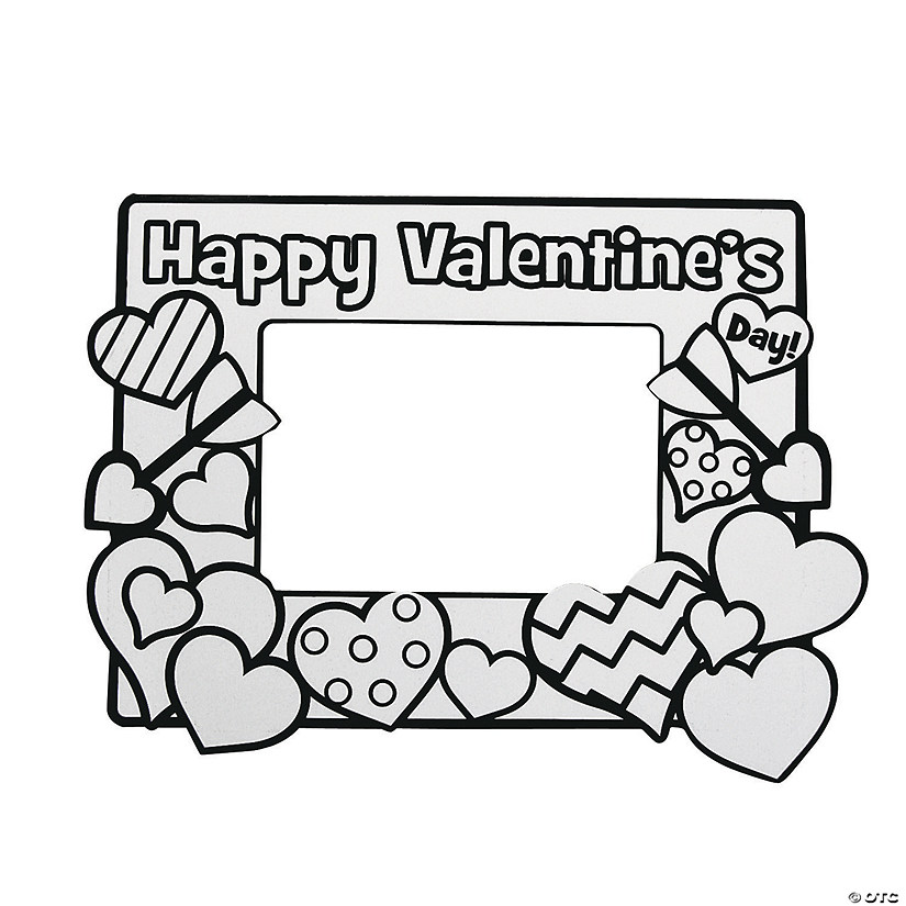 Color Your Own Valentine Picture Frames Discontinued