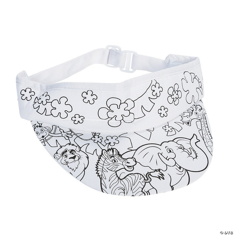 Color Your Own Zoo Visors
