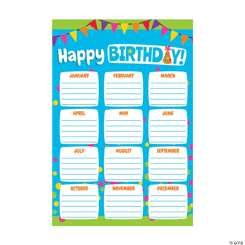Colorful Birthday Chart Poster Audio Thumbnail