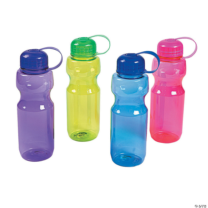 Colorful Contoured Plastic Water Bottles Image Thumbnail