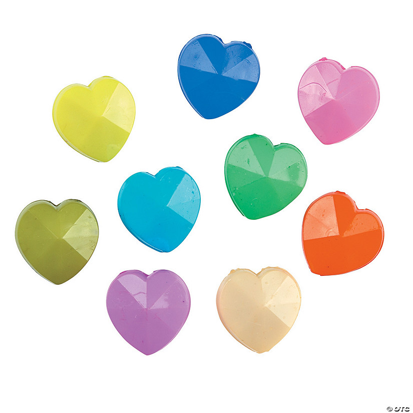 Colorful Heart Beads - 15mm