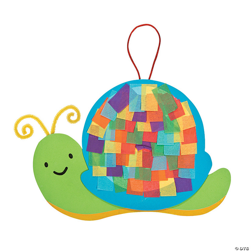 Colorful Snail Tissue Paper Craft Kit