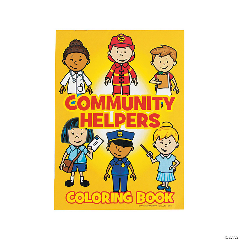 Community Helper Coloring Books Image Thumbnail