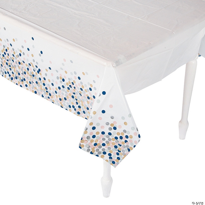 Confetti Design Plastic Tablecloth Audio Thumbnail