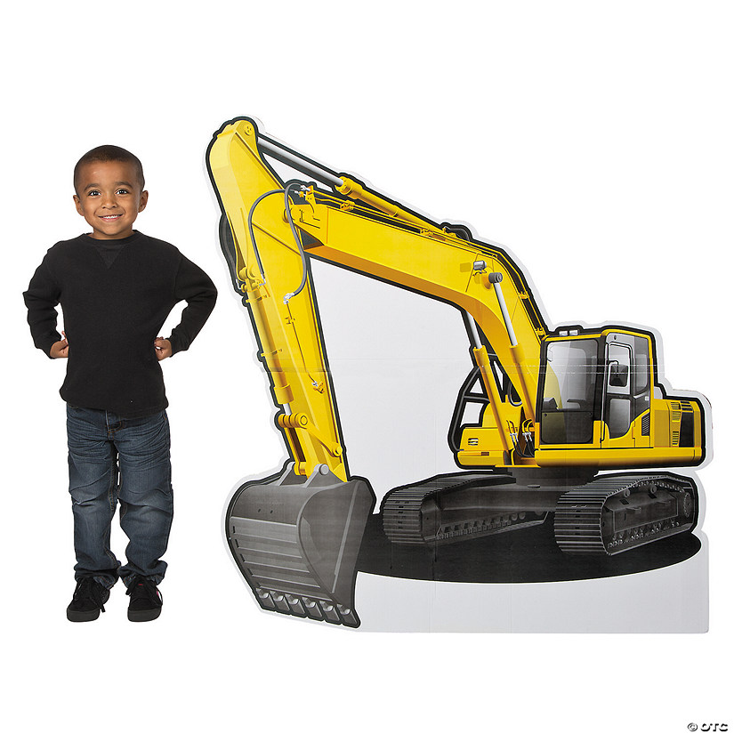 Construction Excavator Cardboard Stand-Up