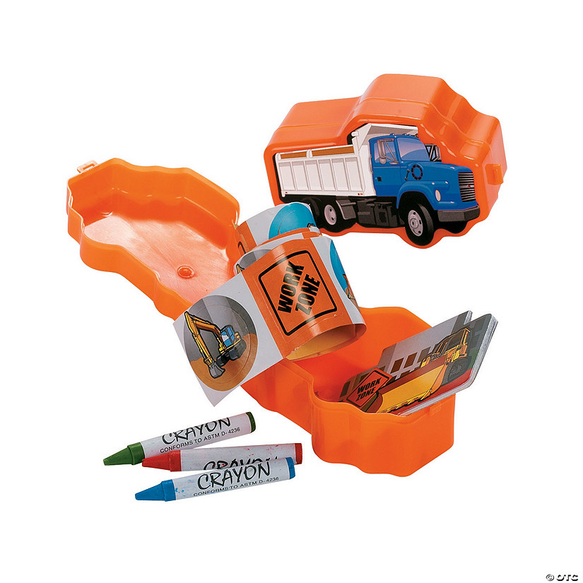 Construction Truck Stationery Pre-Filled Favor Containers Audio Thumbnail
