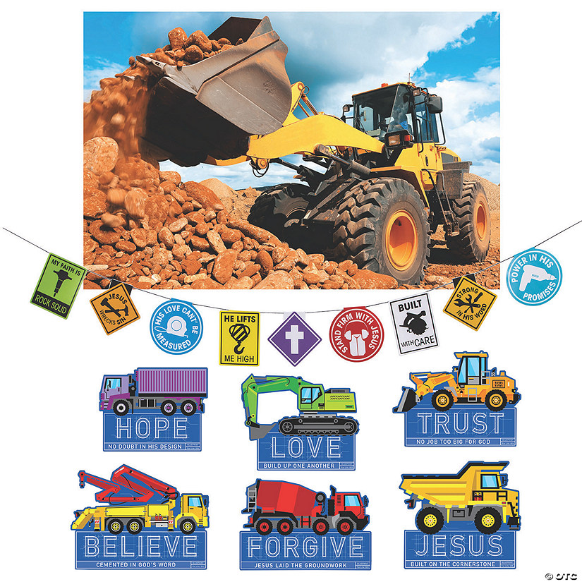 Construction VBS Site Scene Setter Decorating Kit Image Thumbnail