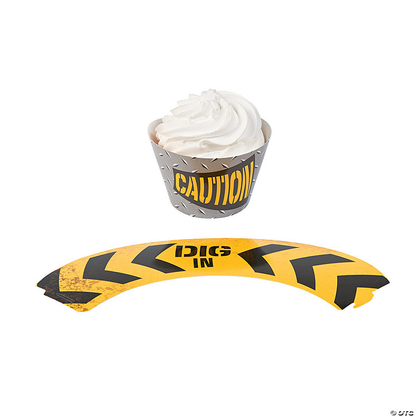 Construction Zone Cupcake Wrappers