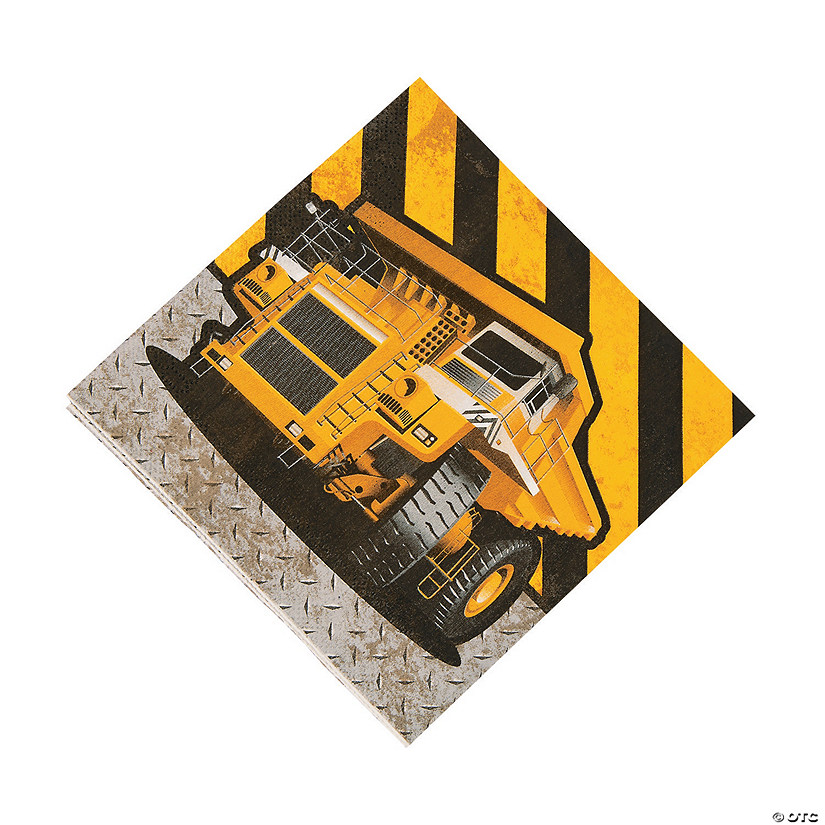 Construction Zone Luncheon Napkins Image Thumbnail