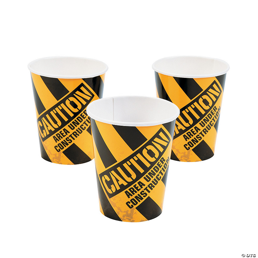 Construction Zone Paper Cups Image Thumbnail