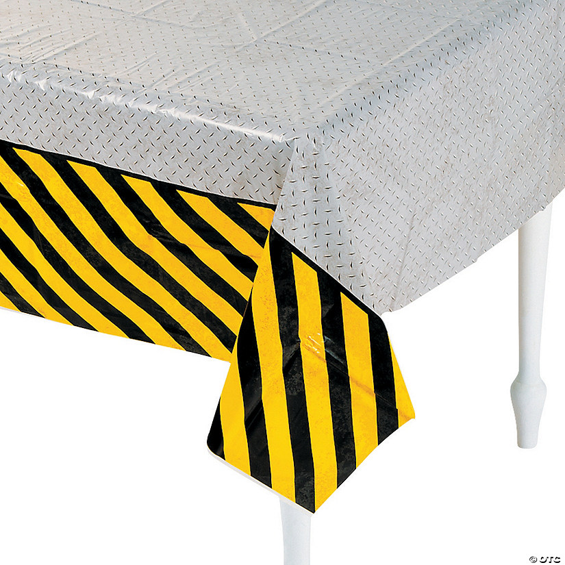 Construction Zone Plastic Tablecloth Image Thumbnail