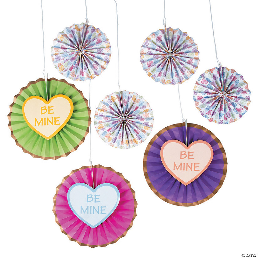 Conversation Heart Hanging Fans
