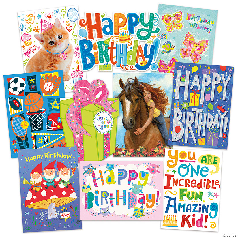 Cool Birthday 10 Card Assortment Pack Image Thumbnail