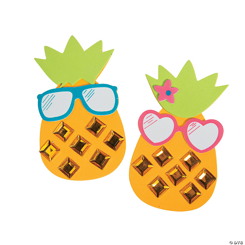 Cool Jewel Pineapple Magnet Craft Kit Image Thumbnail