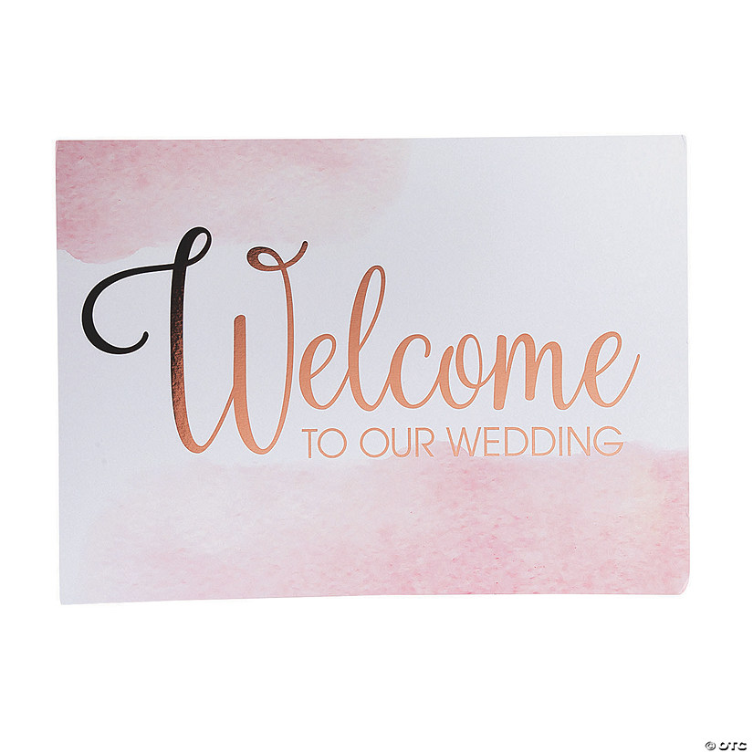 Copper Blush Wedding Welcome Sign Image Thumbnail