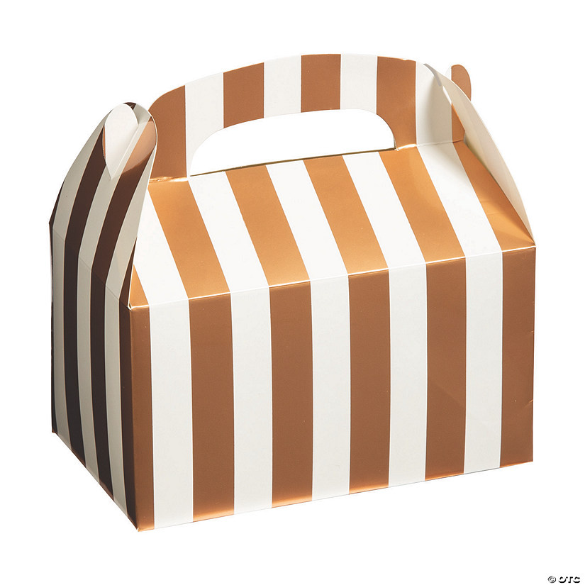Copper Foil Striped Favor Boxes Audio Thumbnail