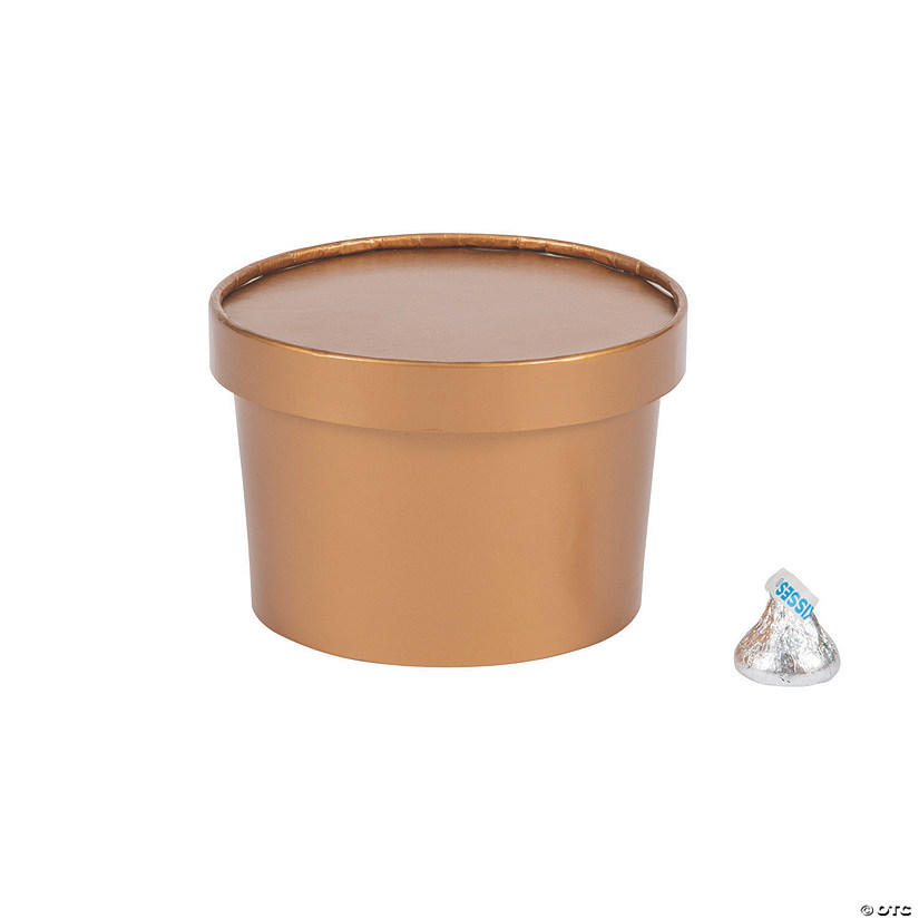 Copper Round Favor Boxes with Lid Audio Thumbnail