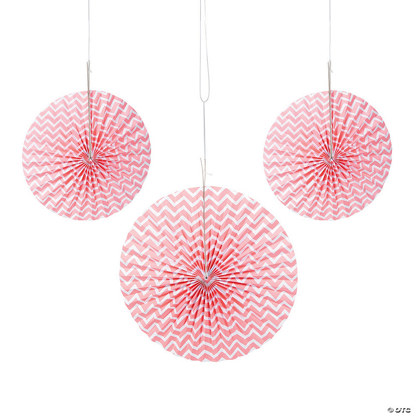 Coral Chevron Hanging Fans Audio Thumbnail