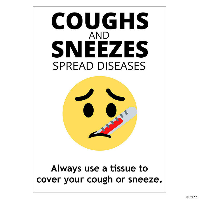 Cough & Sneeze Peel & Stick Decals Image Thumbnail